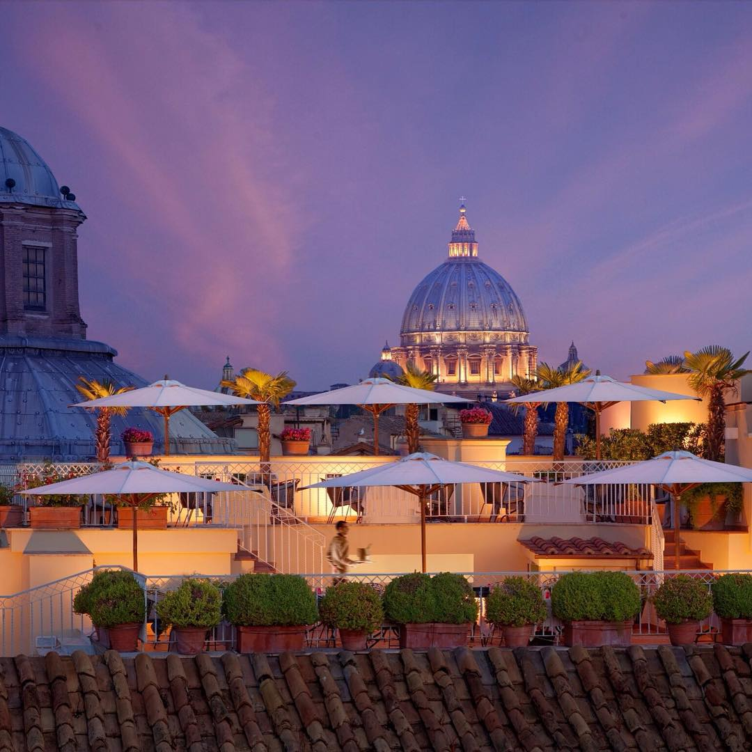 HOTEL RAPHAËL | Rome | Italy – The terrace of this 5 star...