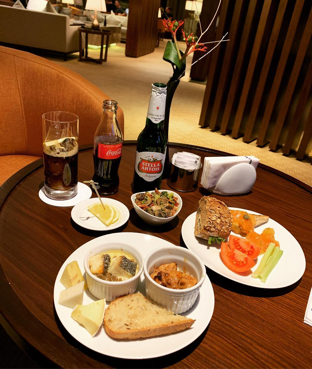 The *excellent* cuisine at Hilton Kyiv Executive Loung