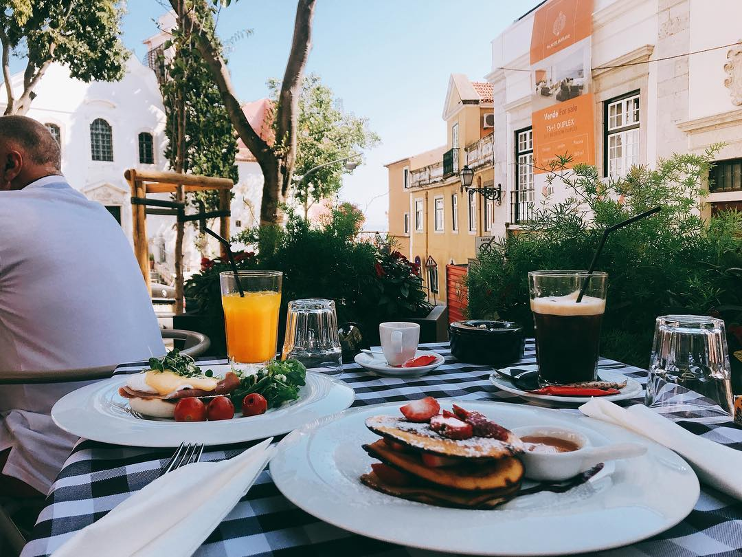 "#breakfast in #Lisbon this place is called ""Audrey's"" as ..."