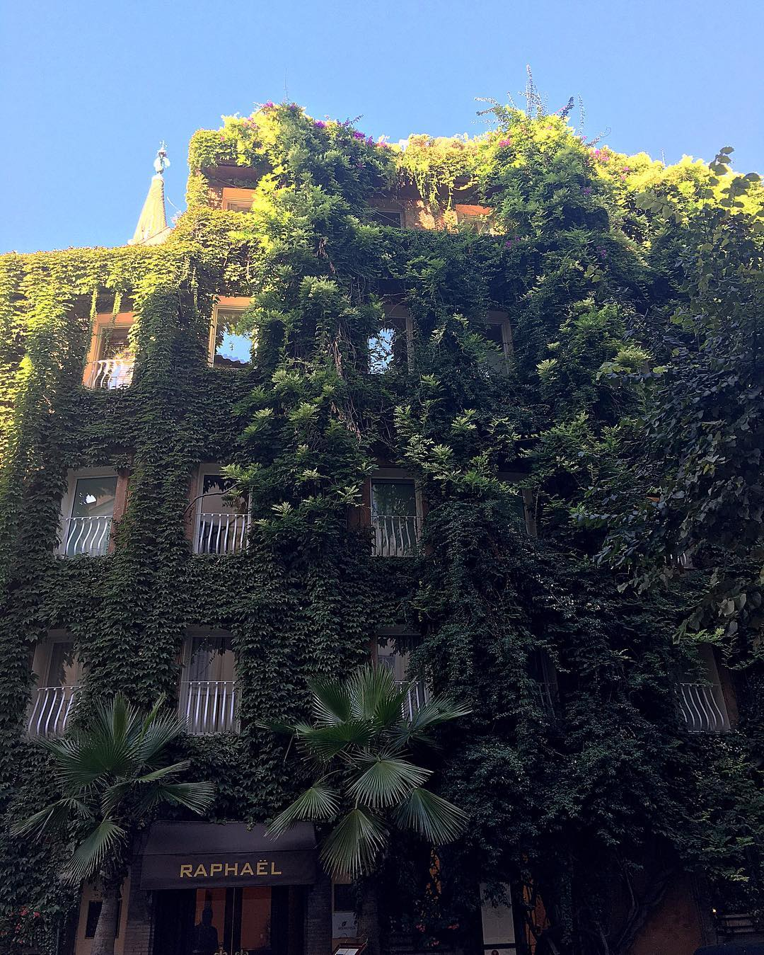 ext level green goals <br /> Hotel Raphael just around th...