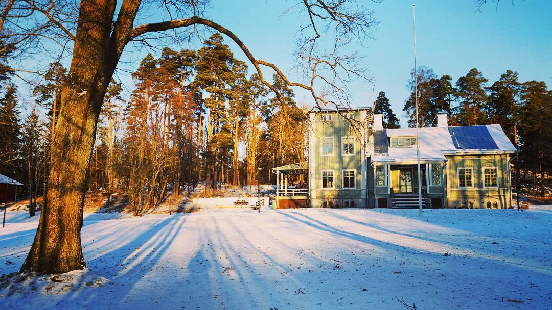 Winter is finally here! <br /> #rastilacampinghelsinki #s...