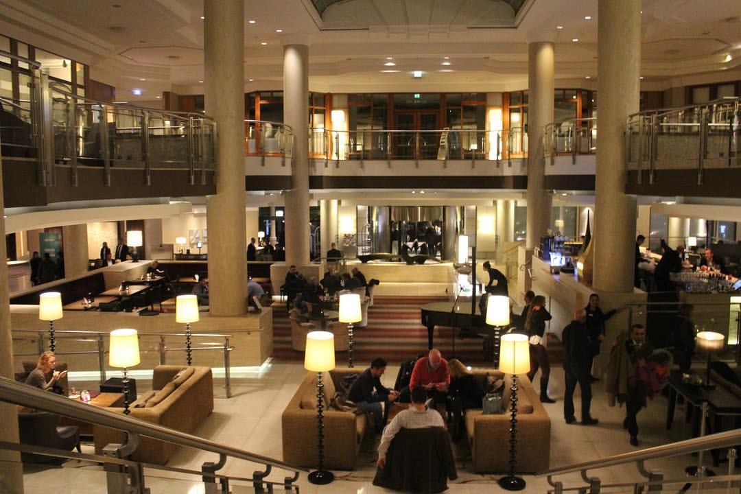 A night at the rather nice Hilton Berlin Hotel, very nice...