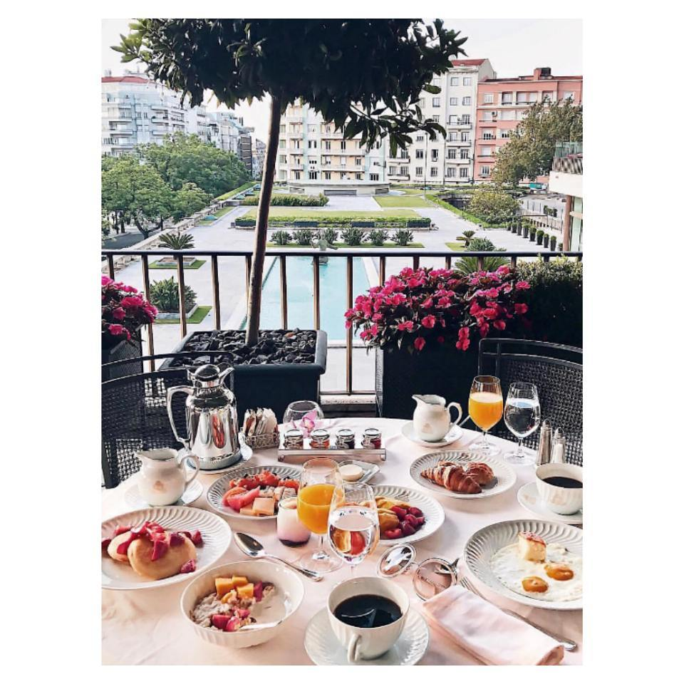 Waking up to a table laid like this.<br /> Four Seasons H...