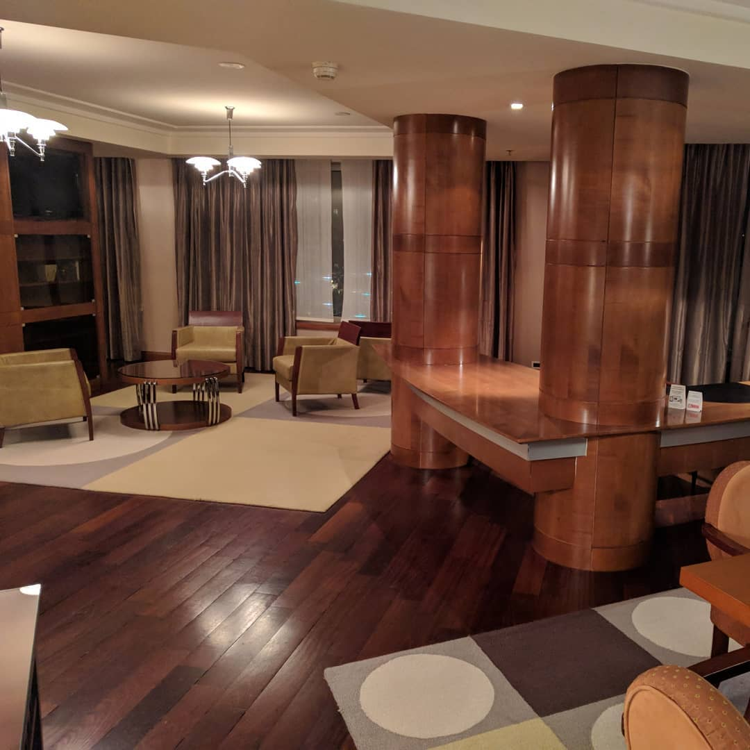 Presidential suite in the Regent hotel in Warsaw. Very sp...