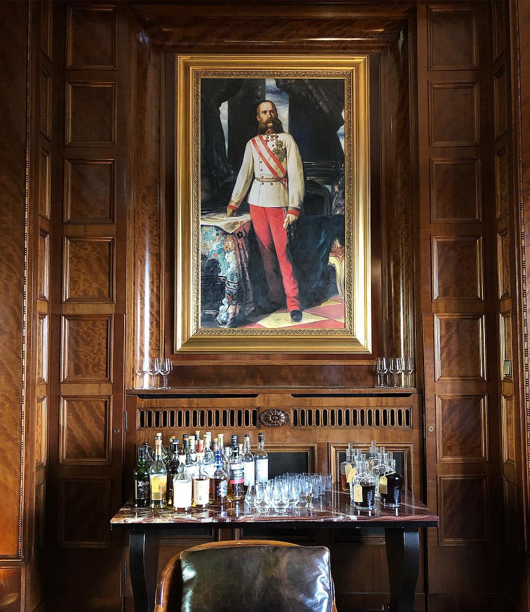 A spot of Empire chic in the cigar room at the elegant Pa...