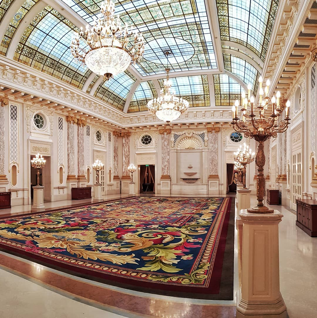 The Beautiful Ballroom at the Fairmont Grand Hotel in Kyiv.