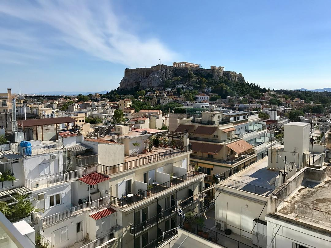View of the Acropolis from our hotel room almost 2 weeks ...